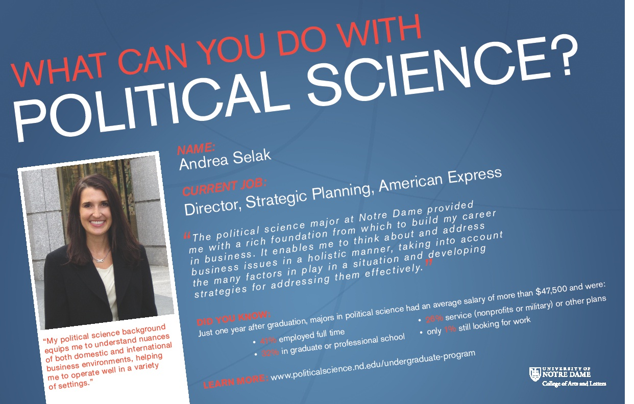 undergraduate program department of political science carey selak